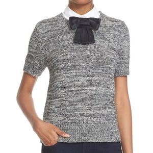 Kate Spade Short Sleeve Bow Collar Sweater